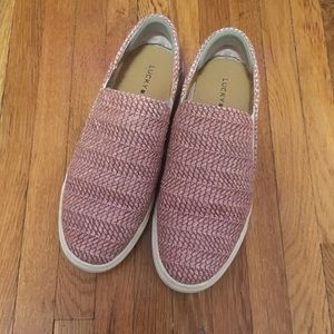 Lucky Brand Pink Slip On Shoes Size 8.5